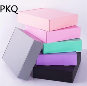 15PCS 15*15*5cm Colorful Kraft Paper Corrugate Box For Packaging Cosmetic Gift Shipping Box Delivery Postal Favor Mailer