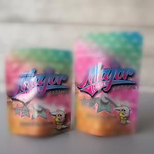 Tamanho Novo Major League Exotics Bag 3.5 Mylar Cheiro de Prova Bolsa de Prova Fechamento Frente à prova de criança para embalagens de ervas secas