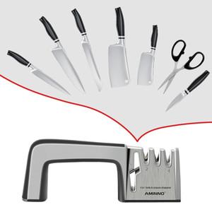 Aminno coltello affilatrice per coltelli Pietra Multifunzionale Pietra Professionale Set per coltelli Affilatura Affilabilità Forbici Knive 201026
