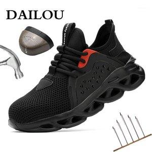 Dailou Safety Travaux Chaussures Bottes pour hommes Anti-brisant des bottes en acier Bottes de construction Baskets de sécurité Stefer Steel Tee1