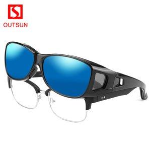 Outsun Марка Чрезмерная подходят поляризованные Мужчины Женщины Спорт на открытом воздухе UV400 Рыбалка Солнцезащитные очки Очки для Os098