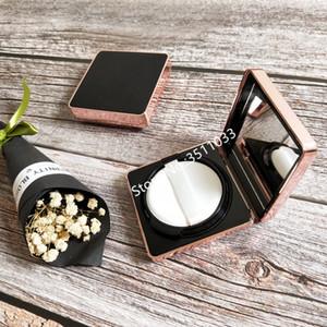 1 set Empty BB Air Cushion Cosmetic Container Box Square Elegant CC Cream Liquid Foundation Case Black Gold DIY