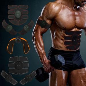 Eletric Muscle Stimulator ABS Muscle Stimulator Electric Stimulation Abdominal Belt EMS Trainer Massage Anti Cellulite Massager Q0107