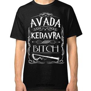 Camicia di moda a buon mercato Lanshitina Avada Kedavra Bitch Designer divertente Designer T Shirt uomo Grafica con cappuccio