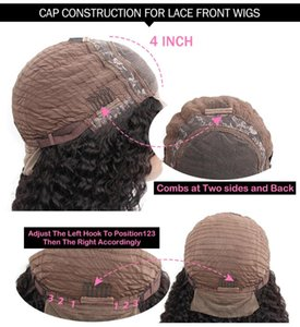 4x4 Lace Closure Wigs 100% Brazilian Human Hair Wigs Lace Wig Curly Wave Natural Remy Hair 150% density Pre Plucked