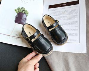 Children's retro leather shoes soft sole non-slip British style boys' single shoes fashionable wild girls princess shoes kids leather shoess