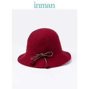 INMAN Winter Spring Autumn Tassel Decoration 100% Wool Japanese Style All Matched Women England Beret 201026