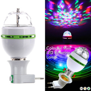 Tragbare Multi LED-Lampe Mini-Laser-Projektor DJ-Disco-Stadiums-Licht-Xmas Party Beleuchtung Show mit E27 auf EU-Stecker-Adapter