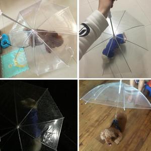 Transparent Pe Pet Umbrella Small Dog Puppy Umbrella Rain Gear With Dog Leads Keeps Pet Travel Outdoors Supplies Ysy300
