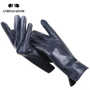 2020 nueva moda guantes de las mujeres, guantes de invierno de las mujeres de piel de oveja, múltiples colores guantes de cuero guantes de alto grado-2226C