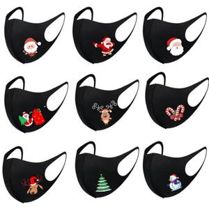 Silk Mask albero Babbo Natale Stampa Maschera maschere di Natale di seta del latte maschere Moda anti polvere faccia lavata traspirante Mask GWC3192