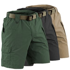Men's travel Hiking Shorts fast drying big multi pocket bag wide outside equestrian short Camouflage Army Men's climbing shorts