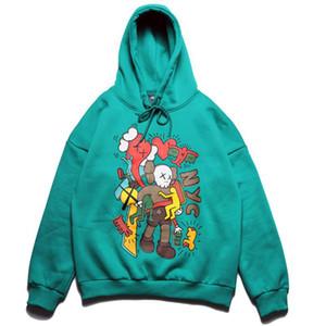 2021 Brand Europeu e American Star Hip-Hop Skate Sésamo Street Dos Desenhos Animados Impressão Homens e Mulheres Casal Com Capuz Sweater Hoodie Plus Velvet