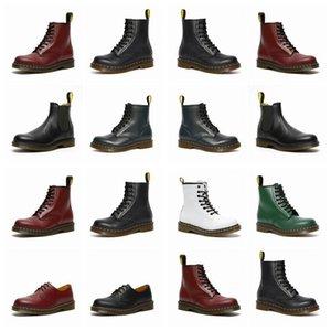 Dr Martins 2976 Deri Kürk Çizmeler 1460 Kış Kar Boot Doktor Ayakkabı Martin Sneakers Üçlü Siyah Beyaz Kırmızı Erkek Kadın Boot 36-44 7745FRB910 #