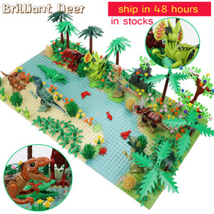 New Jurassic Dinosaur World Tree Forest Animal Action Figures Building Blocks Compatible City DIY MOC Bricks Kids Toys LJ200928