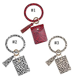 With Leopard Handbag Favor Bracelet Card Bag Wallet Keyring Tassel Keychain Party Credit Holder Wristlet Bangle ZZC4033 Pxadp