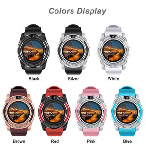 V8 Smart Watch Bluetooth Watches Android with 0.3M Camera MTK6261D DZ09 GT08 Smartwatch with Retail Package