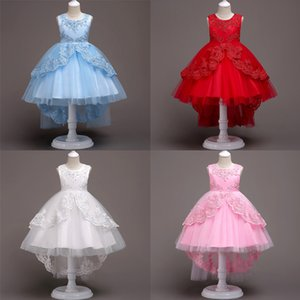 Baby Girls Princess Dress Baby Skitr Tail Dress Girls Bubble Skirt Gauze Lace Round Neck Sleeveless