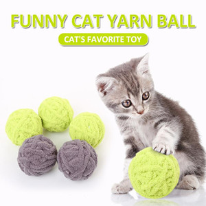 New Funny Long Tail Cat Toy Pet Ball Dog Kitten Long Tail Fuzzy Rattling Scratch Catch Toys Wool Rope Weave Pet Teaser Ball