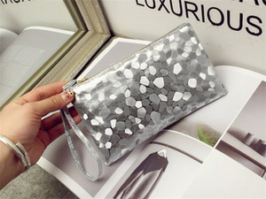 Womens Makeup Wrap PU Leather Mini Portable Multi Colours Handbags Storage Cash Phone Cosmetic Bag Free Shipping 2 4js L2