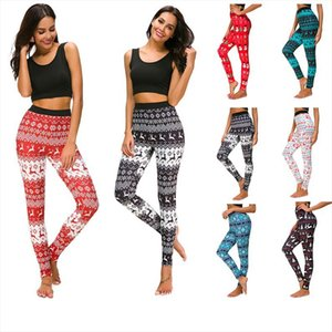 Happy New Year Christmas Gifts Leggings For Women Lady Skinny Printed Stretchy Pants Leggings Trouser legins calzas mujer