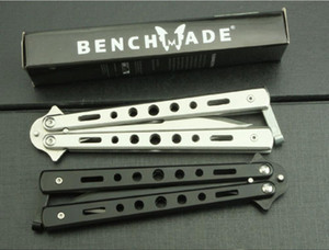 Promotion New hidden arrow Benchmade BM butterfly swing knife 55HRC 3Cr13Mov blade Camping Hunting Self-defense Tactical EDC tools