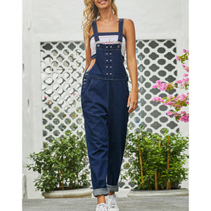 Spring Summer Womens Denim Jumpsuits Overalls Sexy Jeans Office Casual Pencil Pants Femme Trousers DLM786062