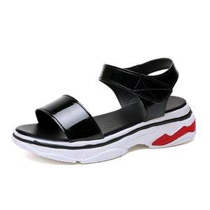 Обувь для кожи Vogue Женщина Сандалии Гладиатор Клина Высокий каблук Клинья Sandalia Feminina Цветочные Сандалии платформы