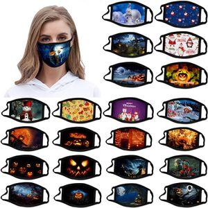christmas face mask halloween masque decorations adult kid face masks mascherina designer cotton mask reusable facemask Support