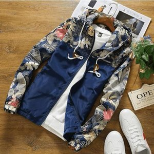 Drop Shipping Florals Bomber Jacket Men Hip Hop Slim Fit Flowers Pilot Jacket Coat Men's Hooded Jackets US Size Free Shipping 201014