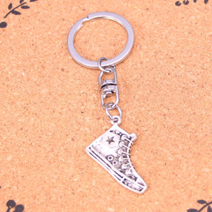 Fashion Keychain 30mm basketball shoes Pendants DIY Jewelry Car Key Chain Ring Holder Souvenir For Gift
