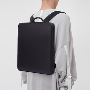Dienqi Minimalism Slim Laptop Men 15.6 Inch Office Work Business Bags Black Ultralight Backpack Thin Back Pack