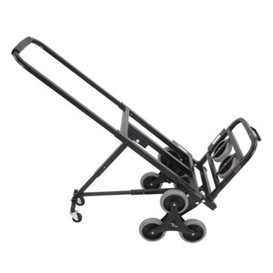 New Portable Stair Climbing Folding Cart 330 LBS Capacity Hand Truck Dolly Black