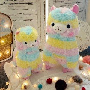 Rainbow Alpaca Vicugna Kawaii овец чучела японские чучела животных детей детский подарок плюшевая кукла игрушка 201210