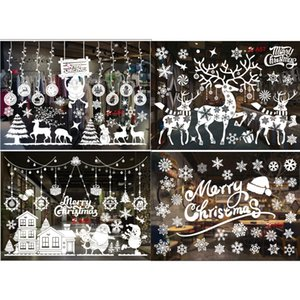 2020 specifically for White Christmas White Christmas wall stickers electrostatic stickers package Home decoration holiday window stickers