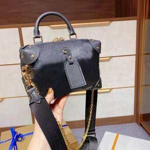 Gran diseñador de alta calidad Moda de alta calidad para damas bolsa de hombro PU cuero de oro cadena bolsa Messenger bolsa de mensajero Bolso femenino