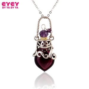 1PC Murano Glass Perfume Necklace Small Heart Essential oil bottle pendants Perfume bottle perfumes and fragrances for women