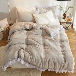 Lace flower Winter thicken warm quilt bedding comforter soft spring&autumn bedroom quilted keep warm duvet with filling blankets1