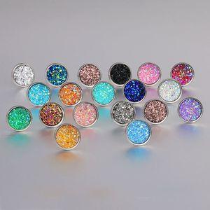 Gioielli Orecchini a mano in resina orecchini rotondi Moda strass orecchini di pietra di fascino del branello orecchino di 2pcs multi colore GGE1725