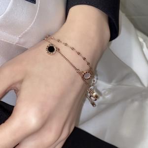 Do not fade titanium steel bracelet female Korean minimalist personality ins niche design sense girlfriends rose gold jewelry