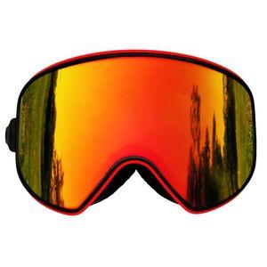 Locle Magnetic Ski-Goggles 2 in 1 Multifunktionslinsen UV400 Ski Brillengläser Anti-Nebel-Männer Frauen Ski Snowboard-Goggles-Maske F1222