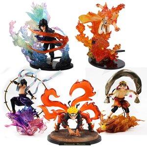 15-26cm Naruto shippuden Zero Fire Battle Version Action Figure Uchiha Sasuke Itachi Madara Jiraiya Tobirama Kakashi Model Toys 201017