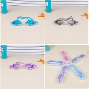 أطفال السباحة نظارات كبيرة مربع اللون مزيج فتاة الصبي النظارات للماء الضباب برهان السباحة بركة نظارات تناسب هدايا حفلة عيد 3 5JW E1