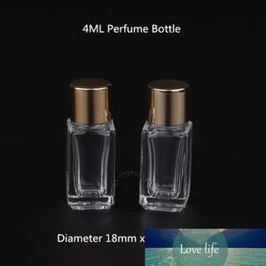 50pcs lot Promotion 4ML Perfume Bottles Empty Refillable Containers Square Glass Parfume Screw Cap Vial Fragrance Cosmetic Jar