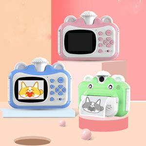 Children's Mini cute camera digital printer photo printer VCR camera children's big head sticker Christmas gift camera