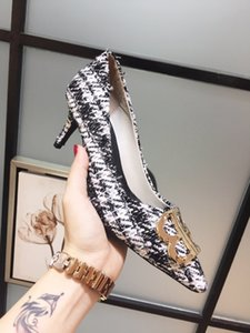 2020 new top point high heel women's shoes high quality metal stiletto heel height: 8.5 cm   6.5 cm
