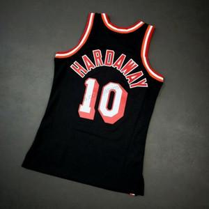 Barato Retro Custom # 10 Tim Hardaway Negro Mitchell Ness baloncesto de la universidad los hombres del jersey cualquier tamaño 2XS-3XL 4XL 5XL Nombre Número chaleco jerseys