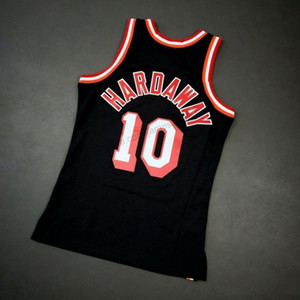 Cheap Custom Retro # 10 Tim Hardaway Mitchell Ness College Basketball-Jersey-Männer Schwarz Beliebig Größe 2XS-3XL 4XL 5XL Name Nummer Vest Trikots