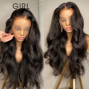 Body Wave 13x4 Front Wigs Pre Plucked with Baby Hair Brazilian Human Hair Long Lace Frontal Wigs for Black Women
