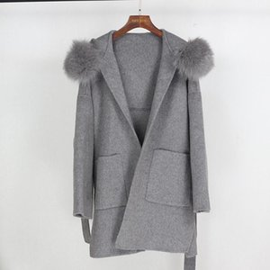 OFTBUY 2020 Real Fur Coat Winter Jacket Women Loose Natural Fur Collar Cashmere Wool Blends Outerwear Streetwear Oversize1